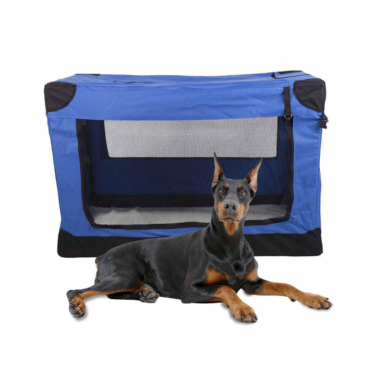 Casinha Móvel Dobrável Pet Holiday Tamanho 4XG Eleva Mundi - Azul