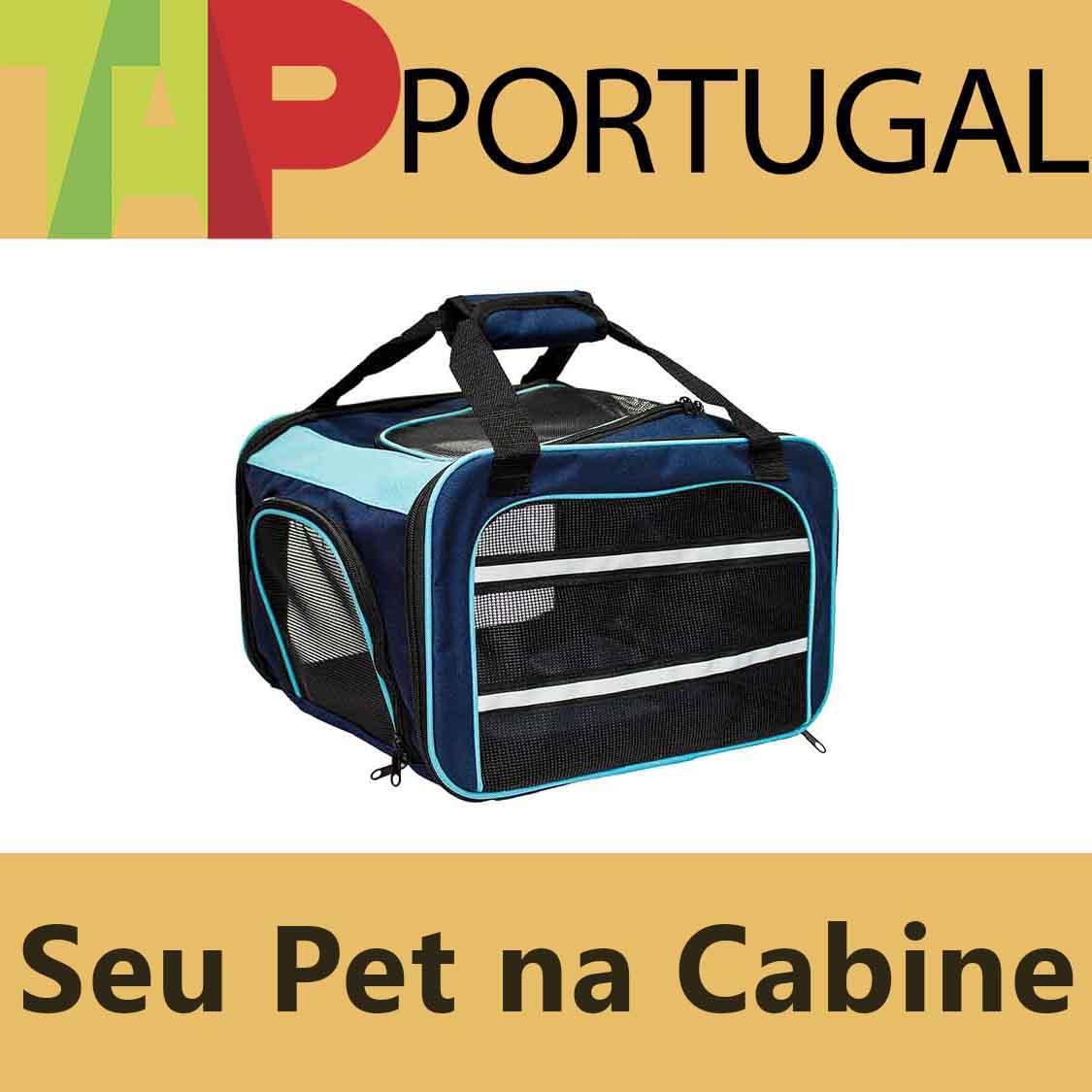 Bolsa para Transportar seu Pet na Cabine do Avião - Cia TAP Portugal  - Eleva Mundi - (Cor Azul)