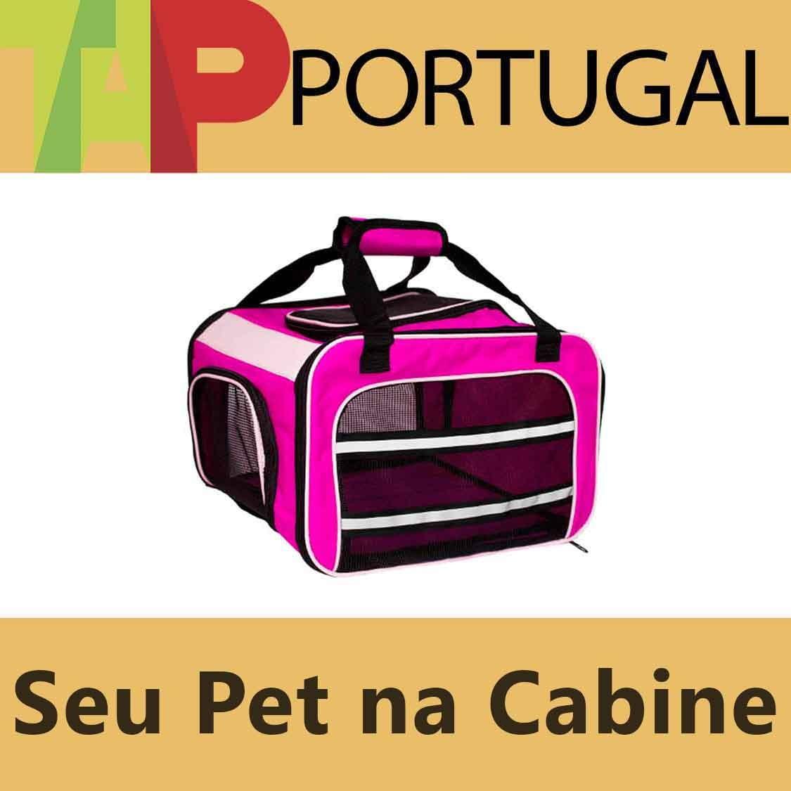 Bolsa para Transportar seu Pet na Cabine do Avião - Cia TAP Portugal  - Eleva Mundi - (Cor Rosa)