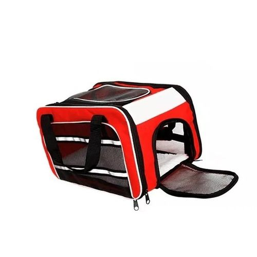 Bolsa Dog Fly para cabine do avião modelo Cia Azul - Cor Vermelha