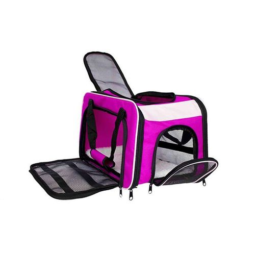 Bolsa Dog Fly para cabine do avião modelo Cia Passaredo - Rosa