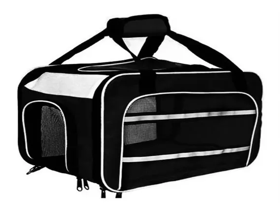 Bolsa Dog Fly para cabine do avião modelo Cia TAP Portugal - Preto