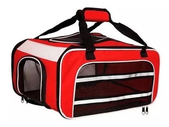 Bolsa Dog Fly para cabine do avião modelo Cia TAP Portugal - Vermelho