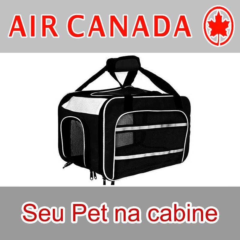 Bolsa para Transportar seu Pet na Cabine do Avião - Cia AIR CANADA - Eleva Mundi - (Cor Preto)