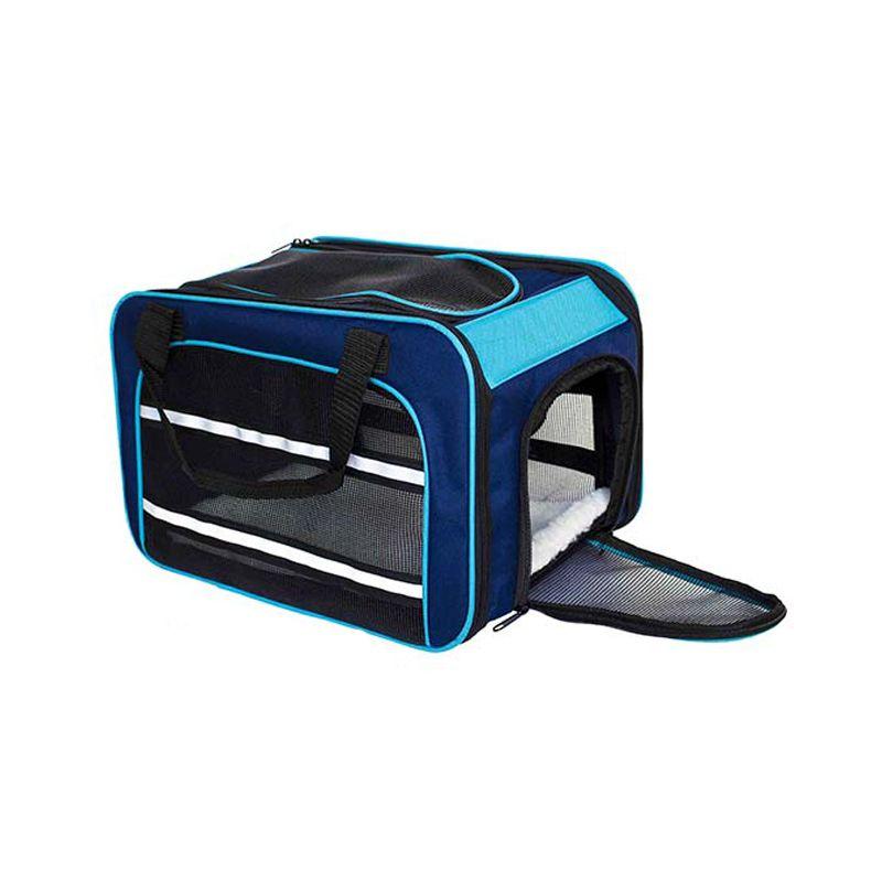 Bolsa Dog Fly para cabine do avião modelo Cia Passaredo - Azul