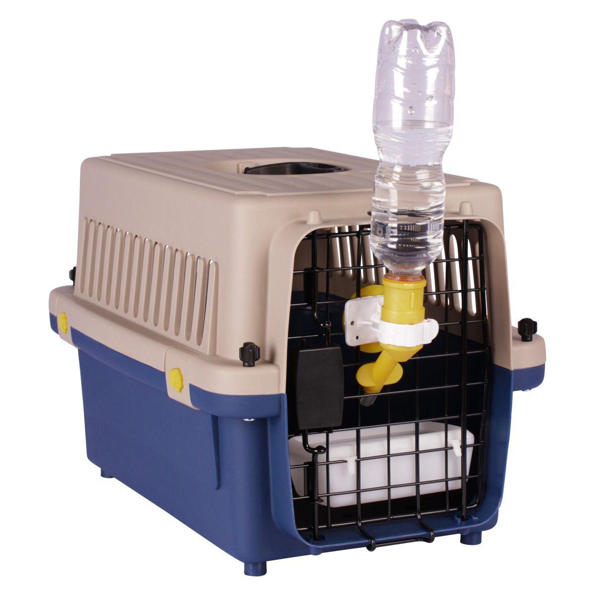 Caixa de Transporte Dog Fly modelo IATA Tamanho 2 N2 + Bebedouro
