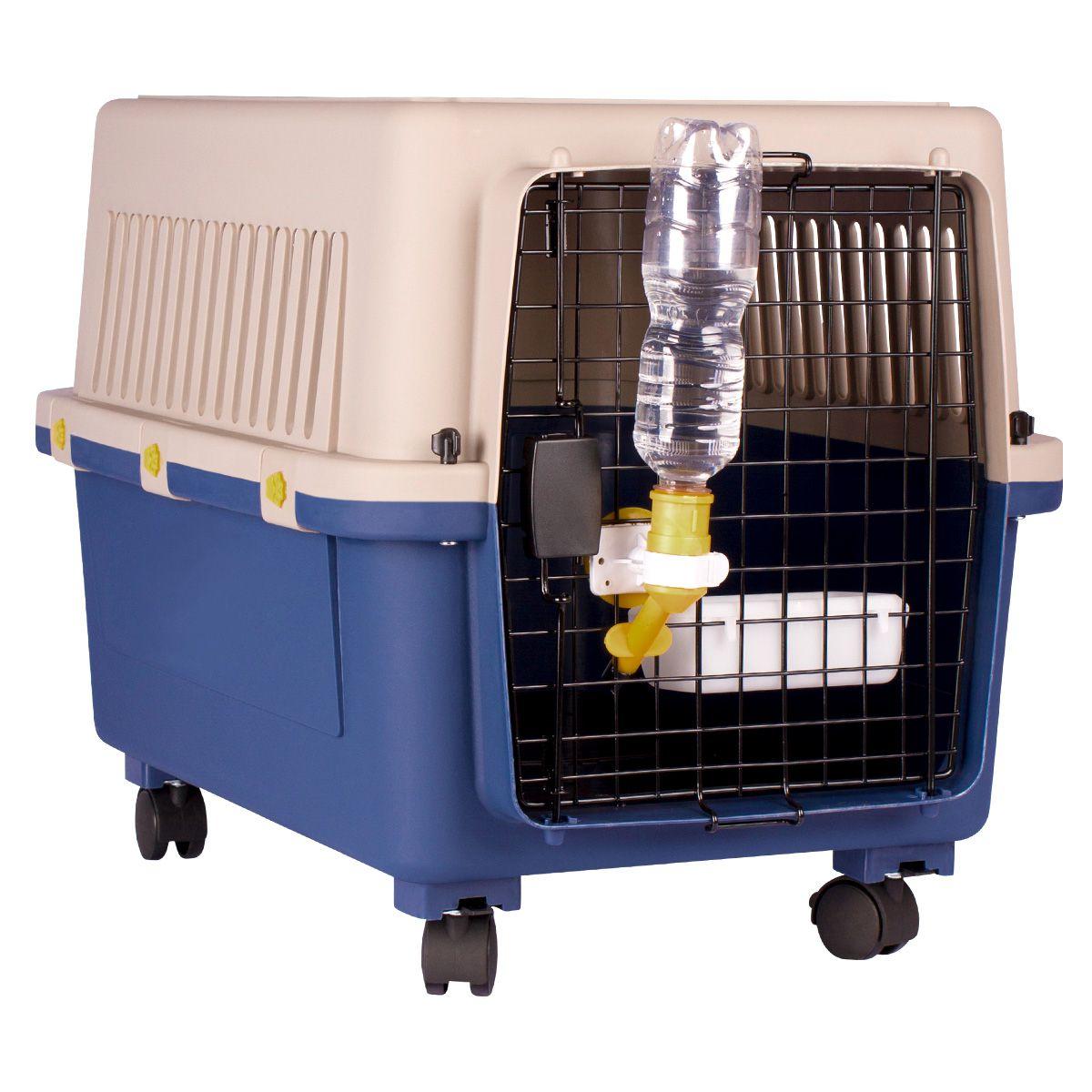 Caixa de Transporte Dog Fly modelo IATA Tamanho 4 N4 + Bebedouro