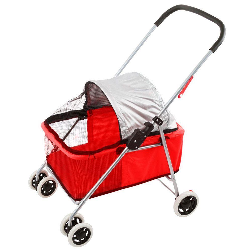 Carrinho Baby Pet Eleva Mundi - Vermelho