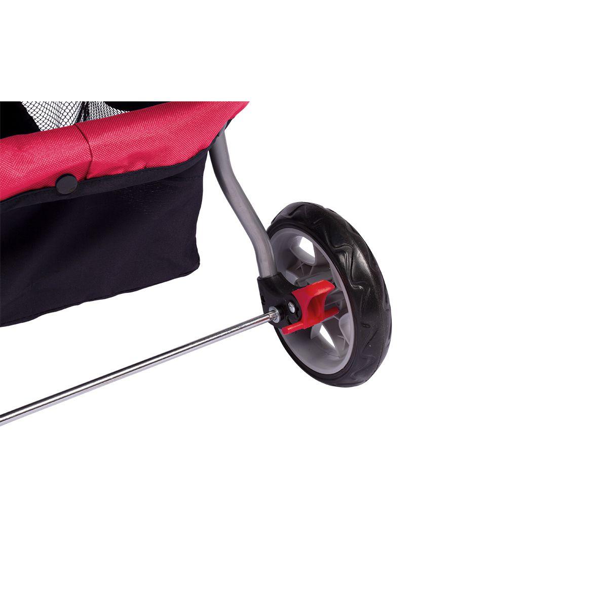 Carrinho Dog Fly modelo Comfort Pet - Vermelho