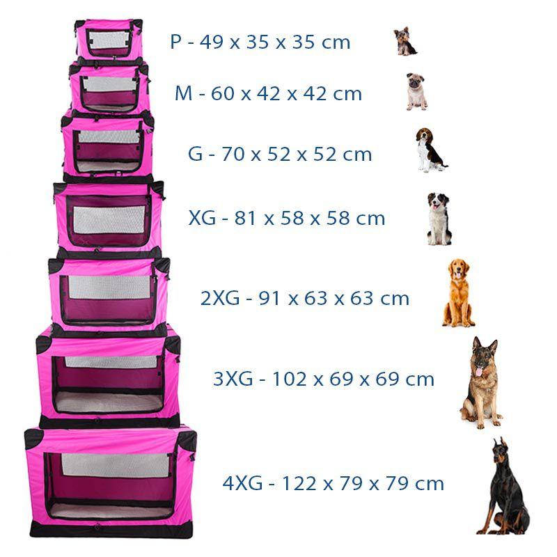 Casinha Móvel Dobrável Pet Holiday Tamanho 2XG - Rosa