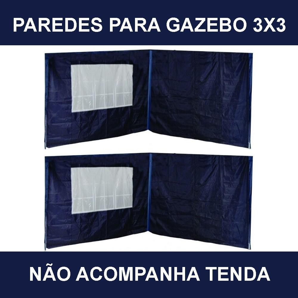 Kit com 4 Paredes Oxford Azul Gazebo 3x3 Articulado MOR