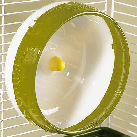 Rodinha de Grade Spin 21cm para Hamster Eleva Mundi - Amarelo