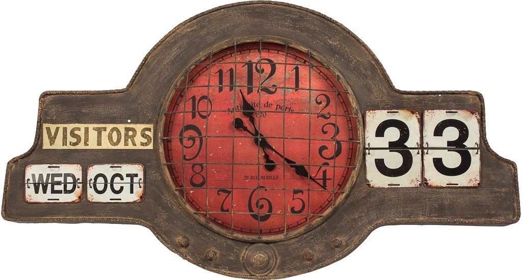 Relogio Calendario De Parede De Metal Oldway  - Arrivo Mobile
