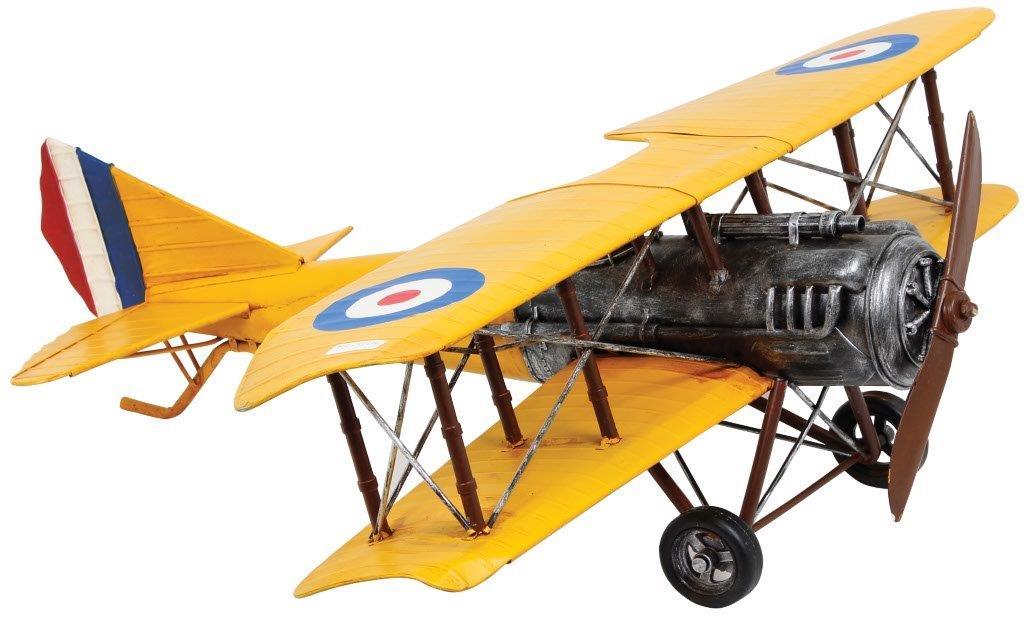 Aviao Amarelo Asas Duplas Medio Oldway  - Arrivo Mobile