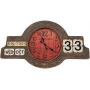 Relogio Calendario De Parede De Metal Oldway