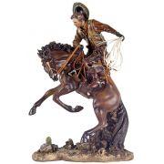 Cowboy Domando Cavalo Oldway 6X31X20Cm