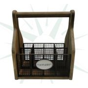 Porta Talheres Cutlery Oldway 25X22X15Cm