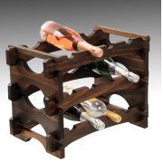 Mini Adega Porta 12 Garrafas Vinho Rack Modulado Colonial