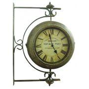 Relógio Estação Giratório Vintage Port Oldway