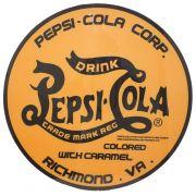 Quadro De Vidro Logo Pepsi Yellow Fullway 70X70X7