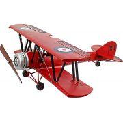 Aviao Vermelho Asas Duplas Oldway