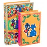 Amor De Pixel - Livro Caixa Gato Conjunto C/2 30x20x6cm