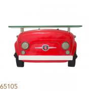 Aparador De Parede Frente De Carro Fiat 500 Vermelho Oldway