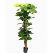 Árvore Artificial Jibóia Gigante Pvc Com Vaso Preto 180cm