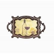 BANDEJA MADEIRA/PVC CLASSIC WINE OLDWAY 72X44X4CM