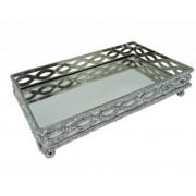 Bandeja Retangular Alumínio 33,5x20x7,62cm