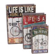 Livro Caixa Decorativo Book Box 3Pçs Life Is Like