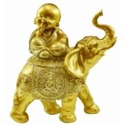 Buda com Elefante Dourado Importado