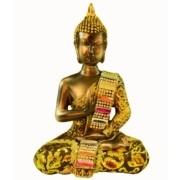 Estatua Imagem de Buda Com Tecido A Importado