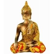 Estatua Imagem de Buda Com Tecido C Importado