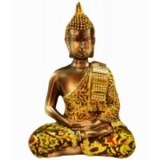 Estatua Imagem de Buda Com Tecido D Importado