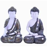 Estatua Imagem de Buda De Resina C/ 2 Importado