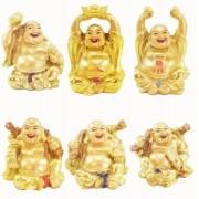 Estatua Imagem de Buda Dourado C/ 6 Importado