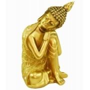 Estatua Imagem de Buda Dourado De Lado Importado