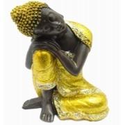 Buda Dourado de Resina Importado