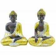 Estatua Imagem de Buda Dourado P Com 2 Importado
