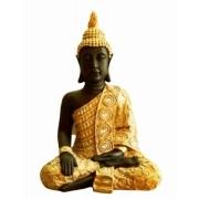 Estatua Imagem de Buda Eg Dourado Com Preto Importado