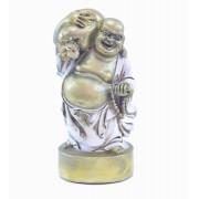 Estatua Imagem de Buda Em Pé Branco Com Saco