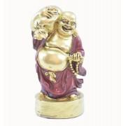 Buda em Pé Vermelho com Saco