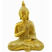 Estatua Imagem de Buda M Dourado Importado