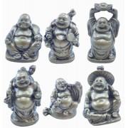 Estatua Imagem de Buda Mini C/ 6 Importado