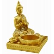 Estatua Imagem de Buda Porta Vela Quadrado Importado