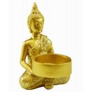 Estatua Imagem de Buda Porta Vela Redondo Importado