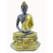 Estatua Imagem de Buda Tibetano Dourado De Resina Importado