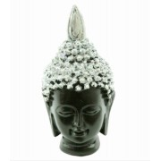 Estatua Imagem de Buda Tibetano Prata P Importado