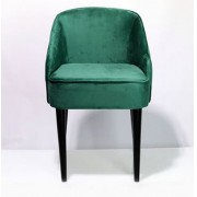 Cadeira Curva Veludo Verde 80x49x57cm